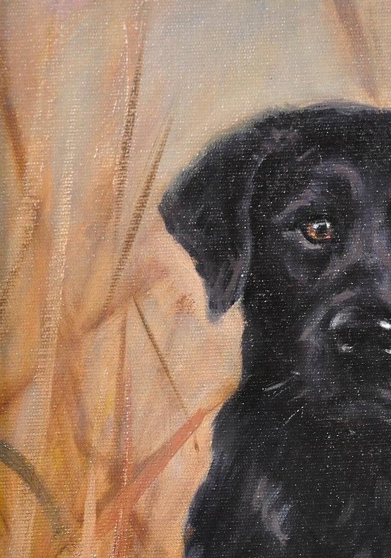 Black Labrador. Original Dog Oil Painting. John Trickett. 20th Century.  For Sale 7