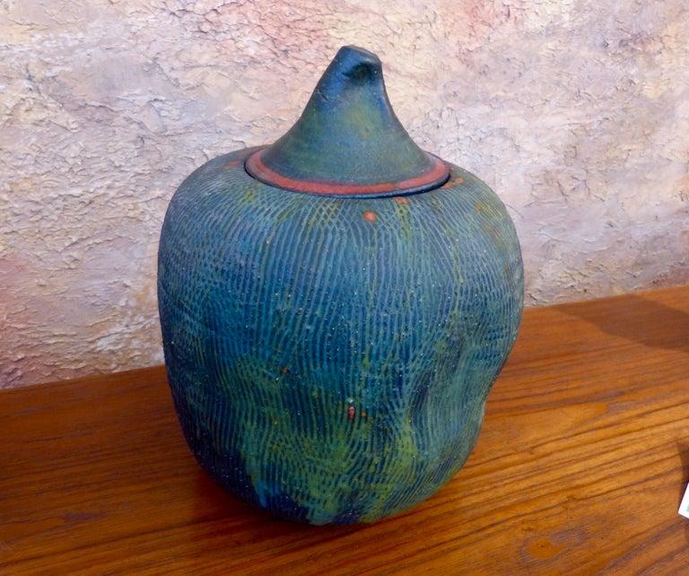 John Tuska Lidded Stoneware Vessel For Sale 1