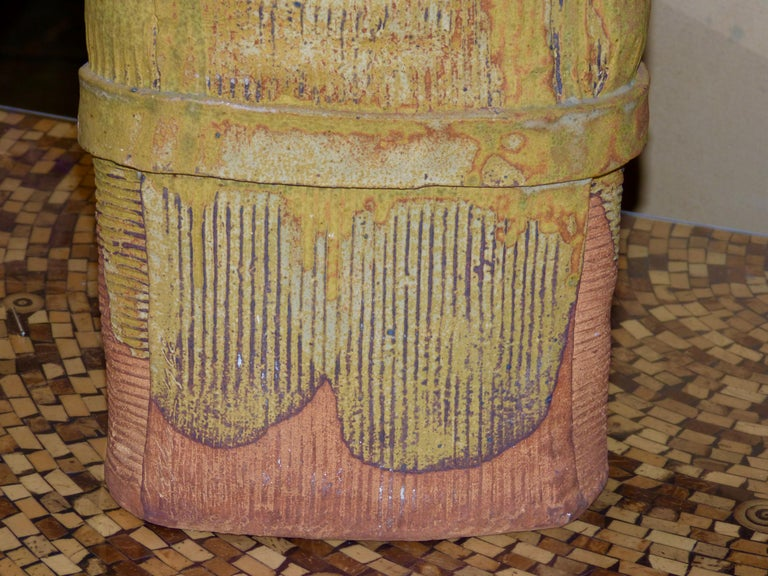 John Tuska Unsigned Pottery Vase For Sale 8