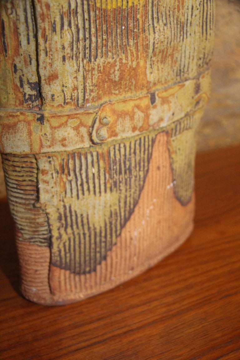 John Tuska Unsigned Pottery Vase For Sale 3