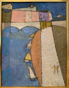 Seine, 1952 Oil Painting by John Urbain