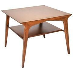 John Van Koert Drexel Profile Two-Tier Side Table