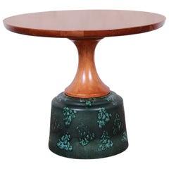 John Van Koert for Drexel Ceramic Base Occasional Table, 1956