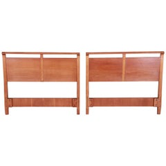 John Van Koert for Drexel Mid-Century Modern Walnut Twin Headboards, Pair