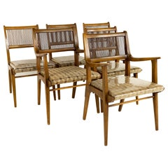 John Van Koert for Drexel Mid Century Profile Dining Chairs, Set of 6