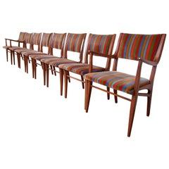 John Van Koert for Drexel Profile Mid-Century Modern Dining Chairs, Set of Eight