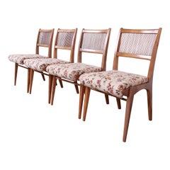 John Van Koert for Drexel Profile Mid-Century Modern Dining Chairs, Set of Four