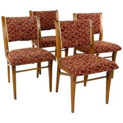 John Van Koert for Drexel Profile Midcentury Dining Chairs, Set of 4