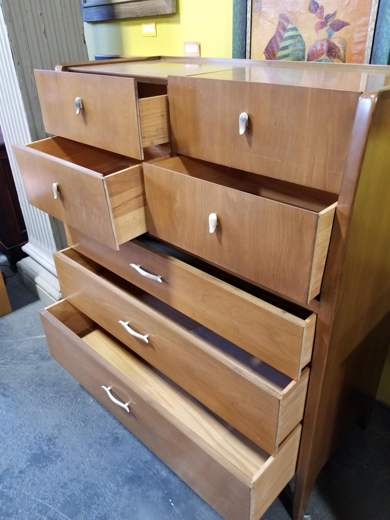 John Van Koert Midcentury Tall Dresser In Good Condition For Sale In Fulton, CA