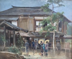 A Japanese Scene - 19th Century, Modern, Landscape Painting by John Varley Jnr