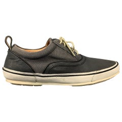 JOHN VARVATOS Size 8 Grey Two Toned Canvas Sneakers