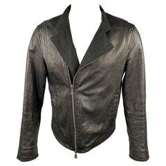 JOHN VARVATOS * U.S.A. Size S Black Leather Zip Up Jacket