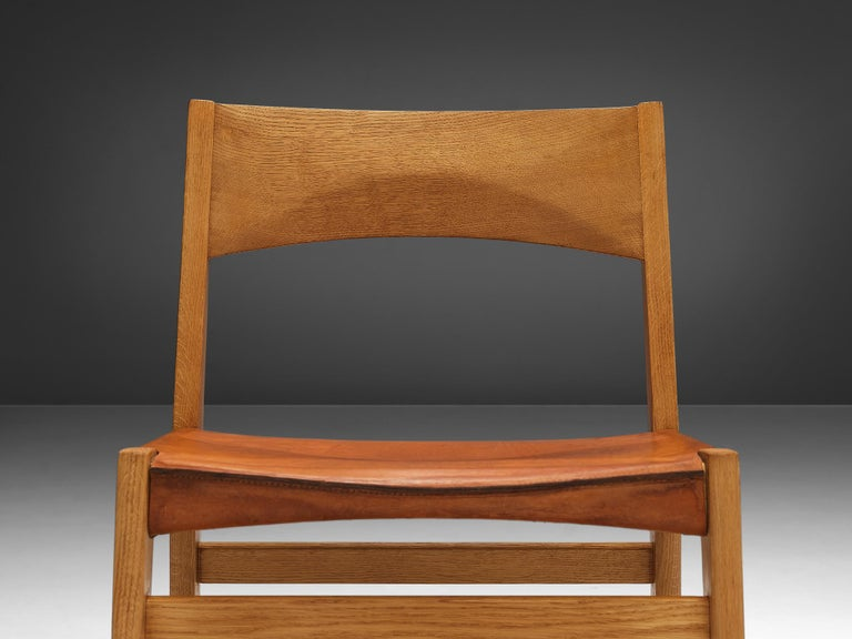 JohnVedel-Rieper Set of 12 Dining Chairs in Oak and Leather For Sale 4