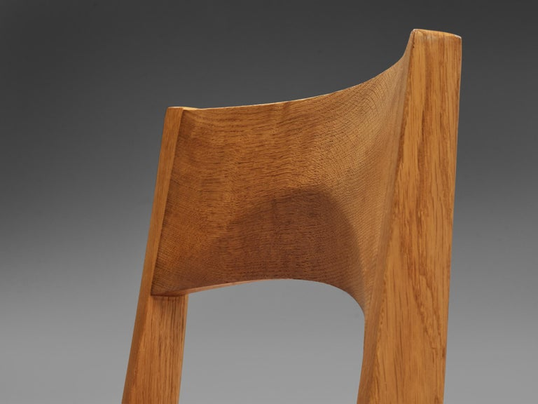 JohnVedel-Rieper Set of 12 Dining Chairs in Oak and Leather For Sale 5
