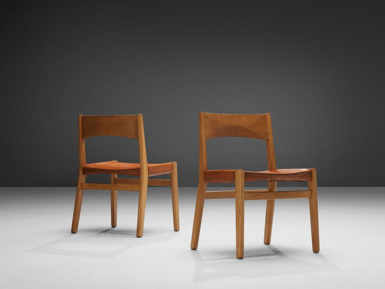 JohnVedel-Rieper Set of 12 Dining Chairs in Oak and Leather For Sale 6