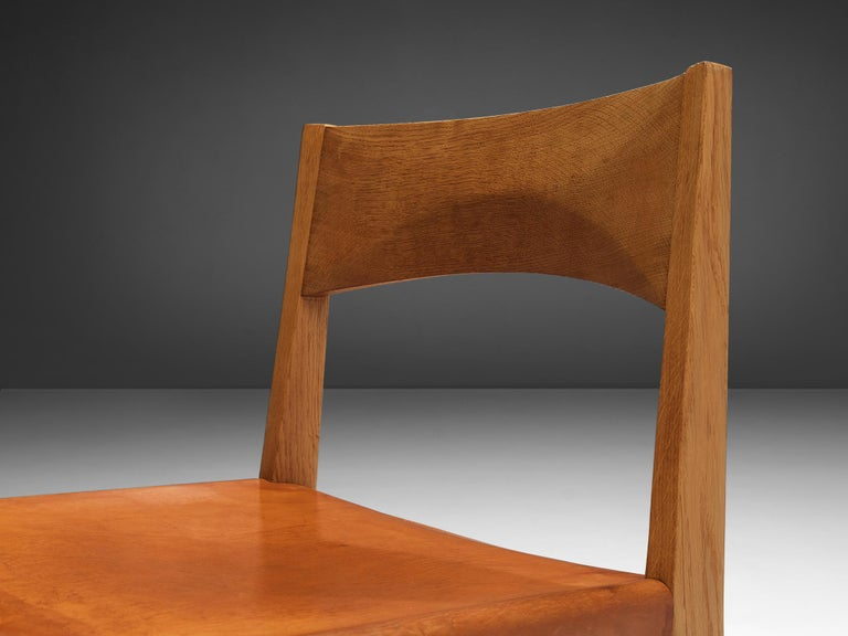 JohnVedel-Rieper Set of 12 Dining Chairs in Oak and Leather For Sale 8