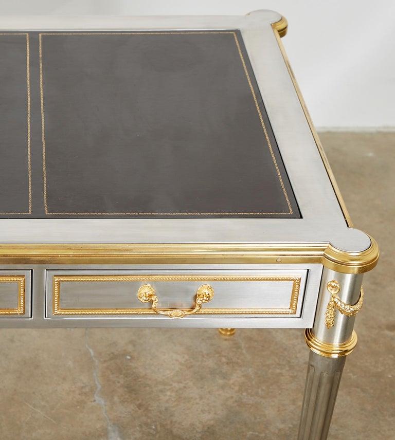 John Vesey Stainless Steel Bronze Neoclassical Desk For Sale 8