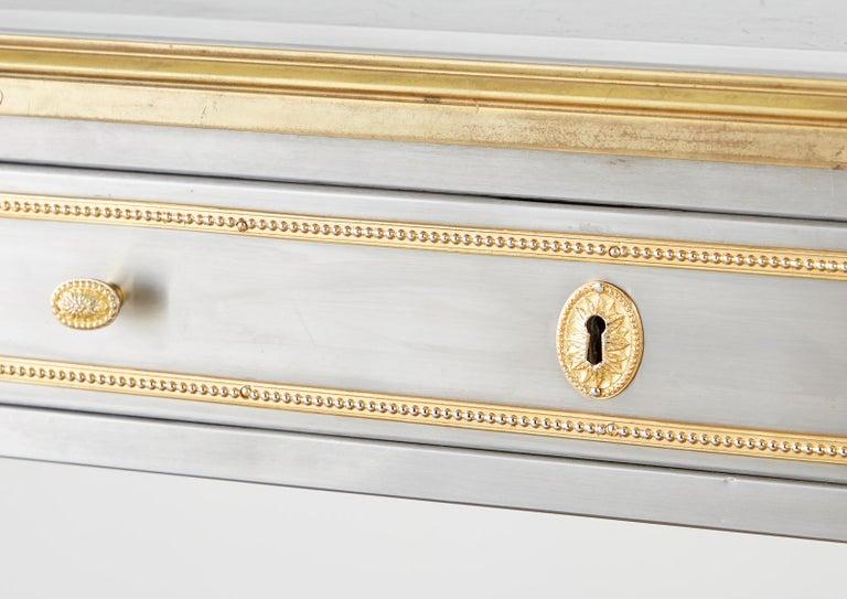 John Vesey Stainless Steel Bronze Neoclassical Desk For Sale 9