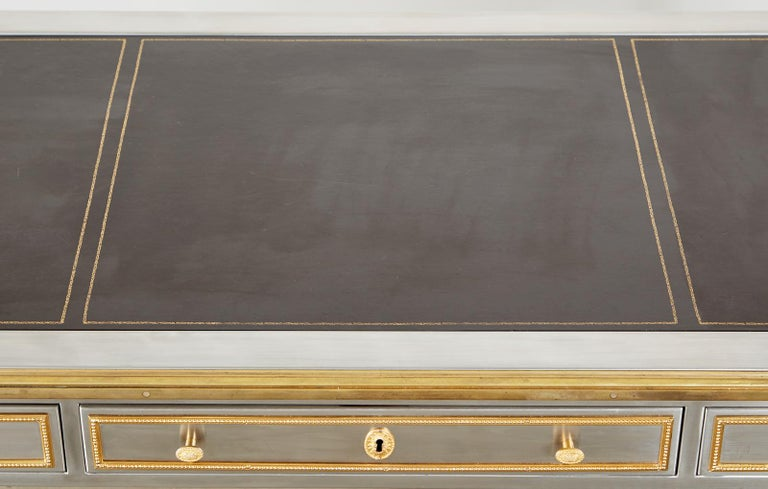 John Vesey Stainless Steel Bronze Neoclassical Desk For Sale 10