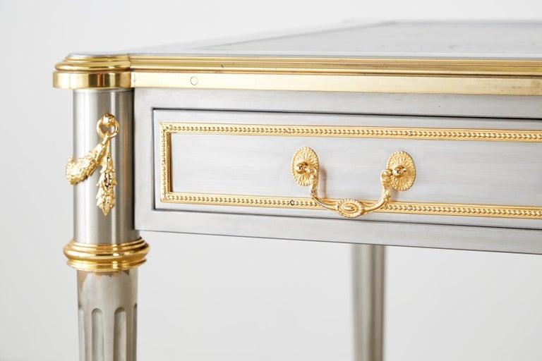 John Vesey Stainless Steel Bronze Neoclassical Desk For Sale 11