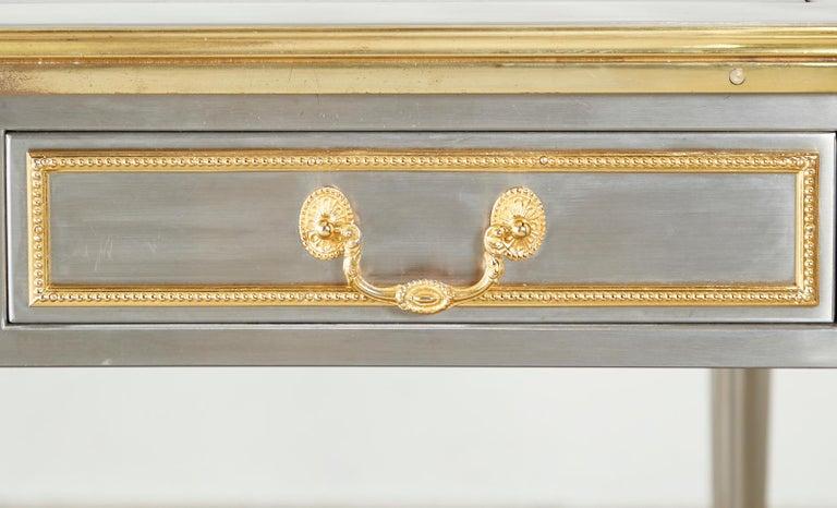 John Vesey Stainless Steel Bronze Neoclassical Desk For Sale 12