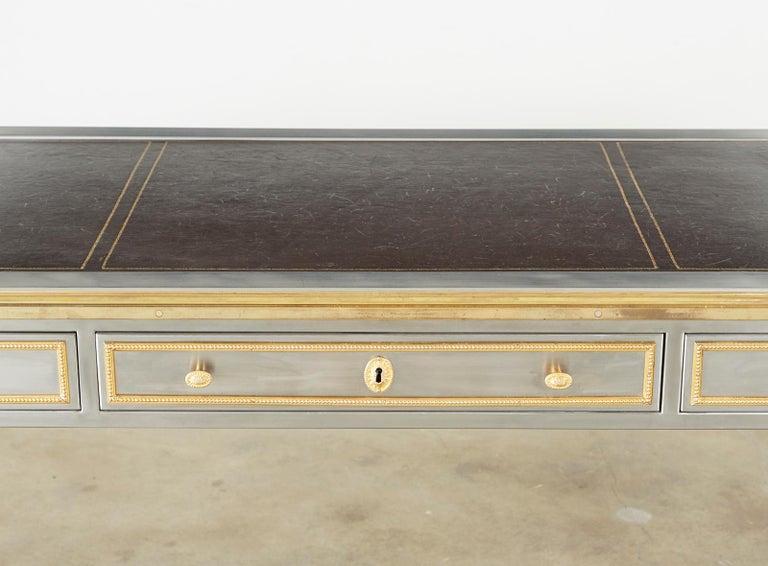John Vesey Stainless Steel Bronze Neoclassical Desk For Sale 3