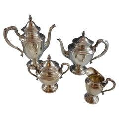 John Wanamaker Sterling Silver Tea Set 4-Piece 1920s Style