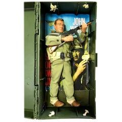 John Wayne Vintage Toy G. I. Joe Doll Figure with Weapons & Custom Carrying Case