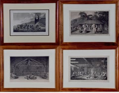 A Group of Four 18th Century Engravings from Captain Cook's 3rd Voyage Journal