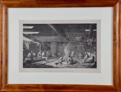 """Inside of a House in Nootka Sound"" (Canada) from Captain Cook's 3rd Voyage"