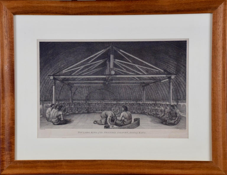 """John Webber Figurative Print - """"King of the Friendly Islands"""" (Tonga); Engraving from Captain Cook's 3rd Voyage"""