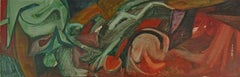 John Wehmer abstract oil painting, 1950s, St. Louis artist