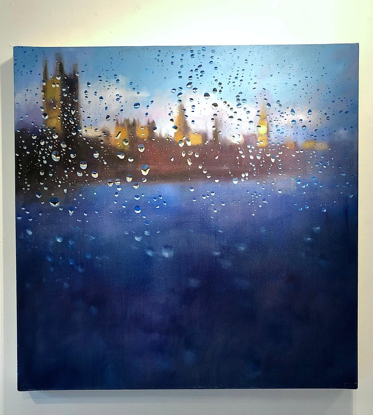 This original City Landscape painting by John Welsh is painted on deep edge stretched canvas. The artwork is signed, stringed and ready to be displayed.     John Welsh is a Hampshire based artist specialising in Landscapes and cityscapes of London