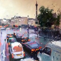 Trafalgar Square abstract Cityscape oil painting Contemporary 21st Century Art