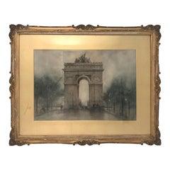 John Wesley Little L' Arc de Triomphe, Watercolor