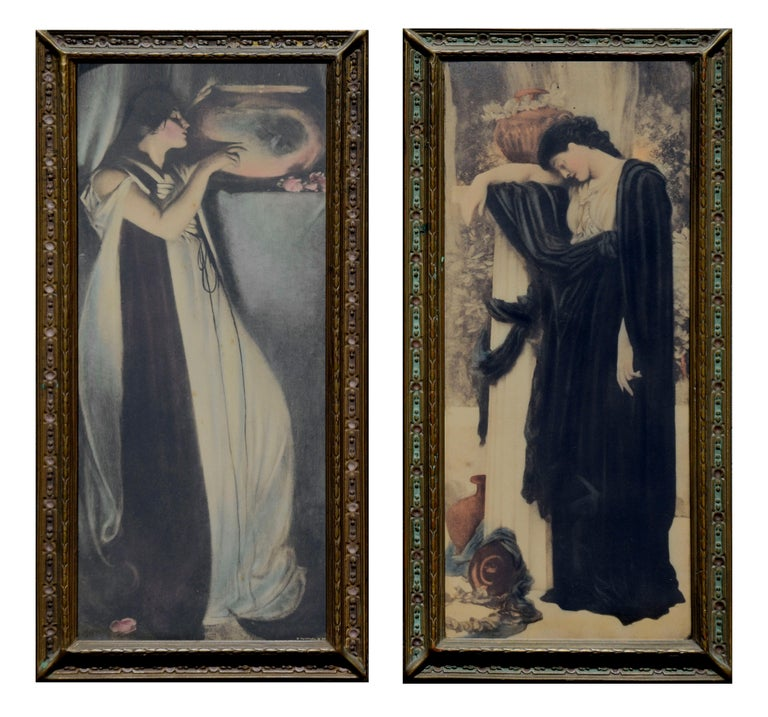 John White Alexander Figurative Print - Two Images of Women - Set of 2
