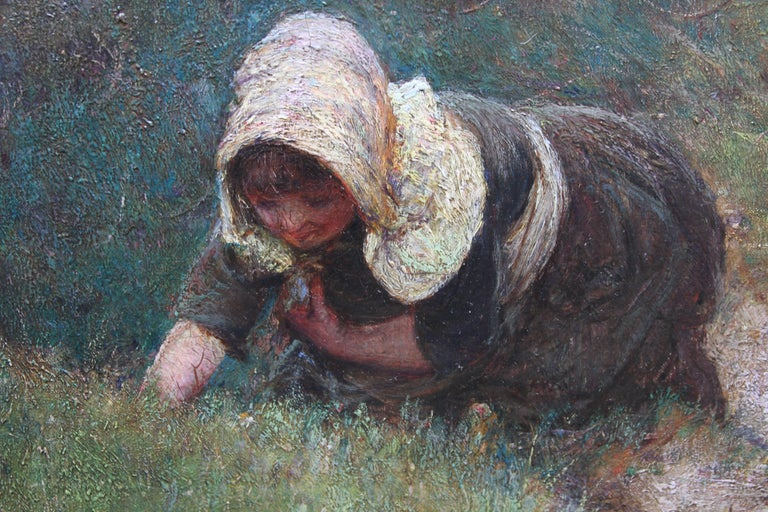 Over the Sea - Sennen - British 19thC Newlyn School oil painting women seascape 4