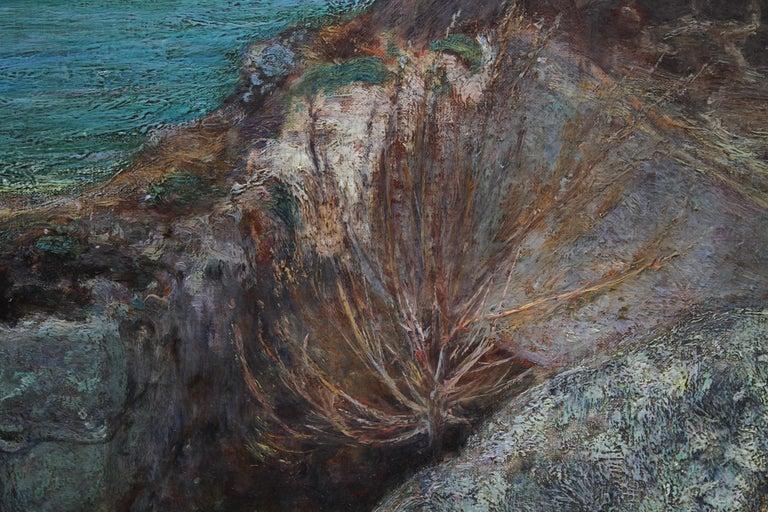 Over the Sea - Sennen - British 19thC Newlyn School oil painting women seascape 5