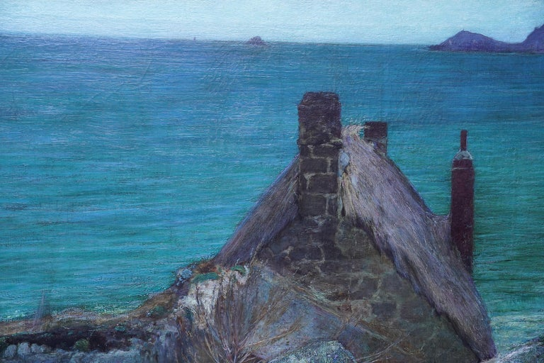 Over the Sea, Sennen - British Victorian coastal portrait oil painting Cornwall For Sale 3