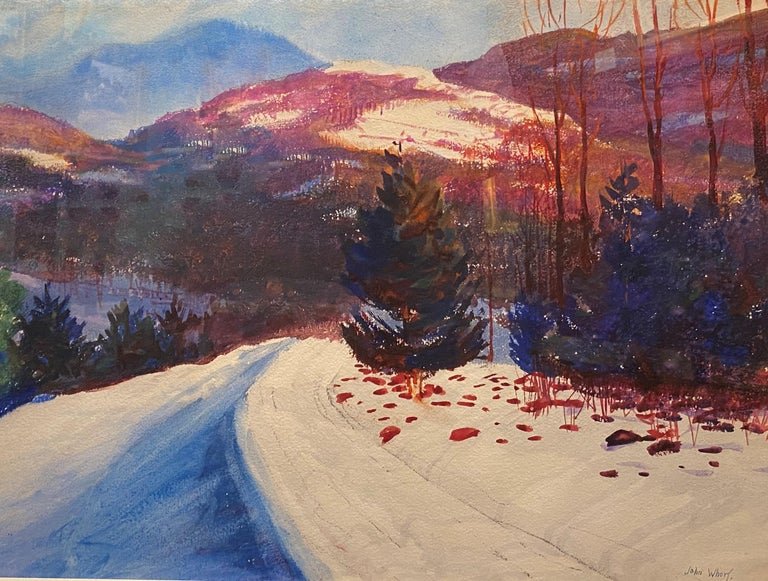 Equinox Mountain, VT - American Impressionist Painting by John Whorf