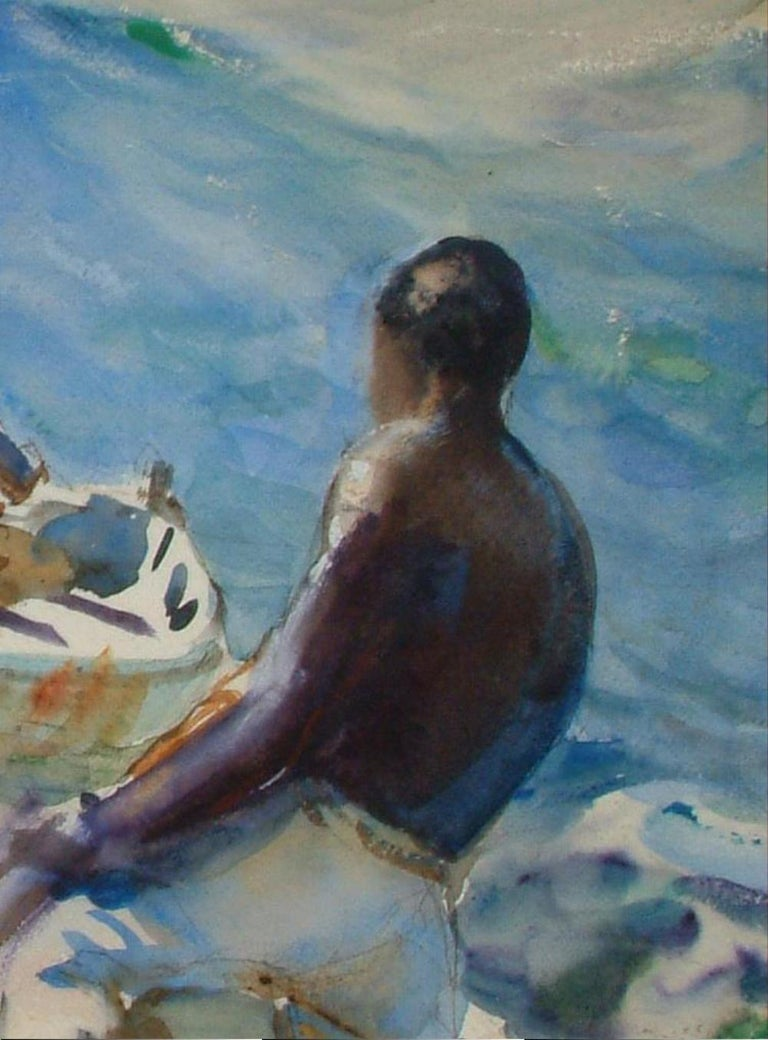 20th Century John Whorf Watercolor, Morning, Barbados For Sale