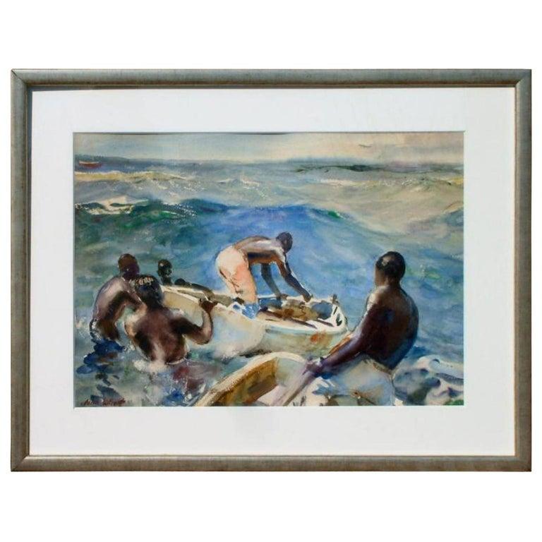John Whorf Watercolor, Morning, Barbados For Sale