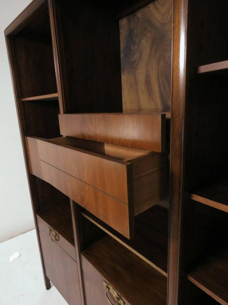American John Widdicomb Bow Front Freestanding Wall Unit Designed by Bert England For Sale