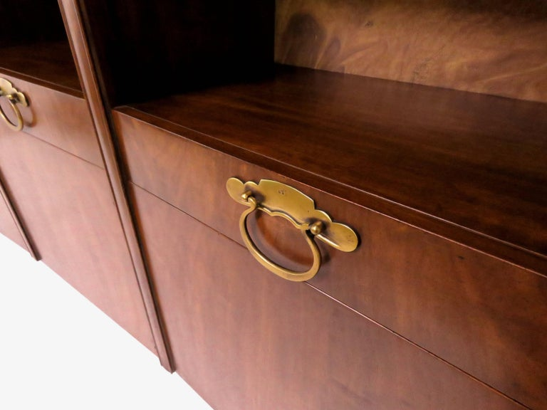 John Widdicomb Bow Front Freestanding Wall Unit Designed by Bert England In Good Condition For Sale In Southampton, NJ