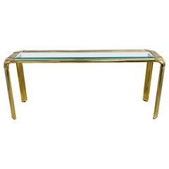 John Widdicomb Brass Console Table