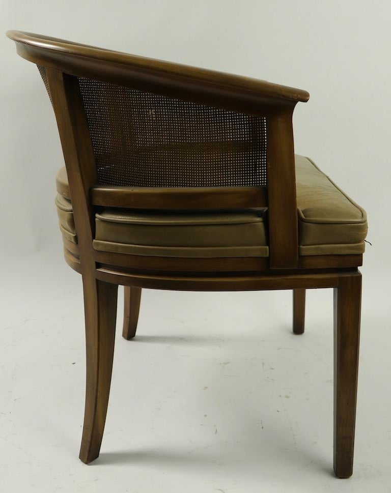 John Widdicomb Caned Back Lounge Chair For Sale 3