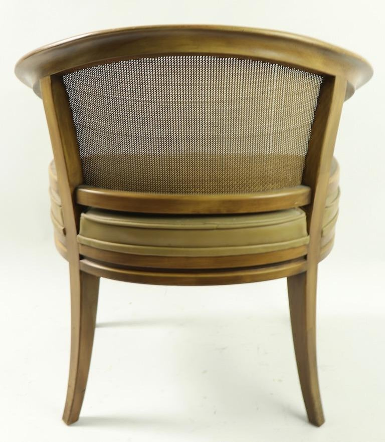 American John Widdicomb Caned Back Lounge Chair For Sale