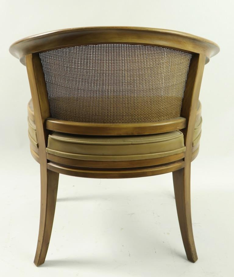 John Widdicomb Caned Back Lounge Chair In Good Condition For Sale In New York, NY