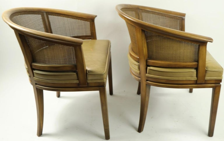 John Widdicomb Caned Back Lounge Chair For Sale 2