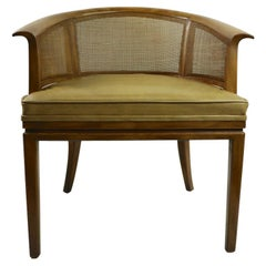 John Widdicomb Caned Back Lounge Chair